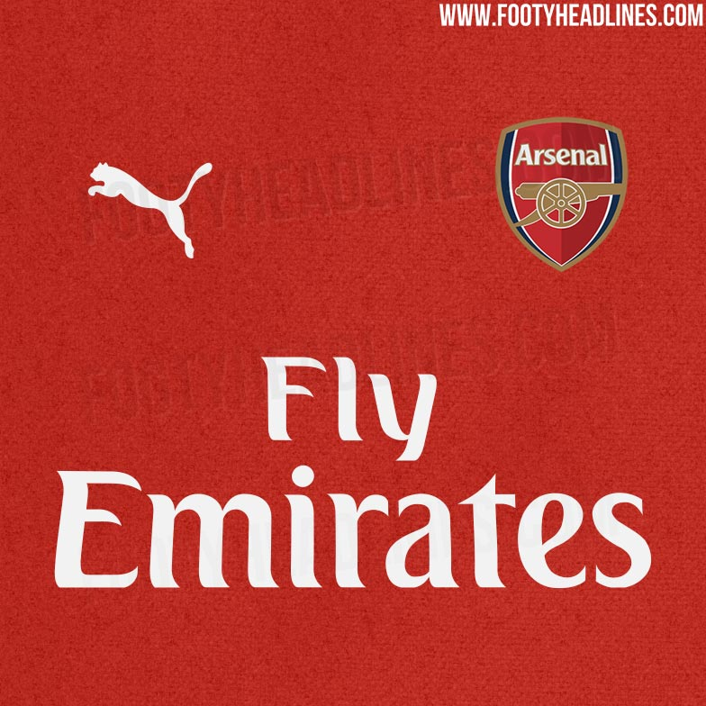 46a27abe0 These are the colors and design of the new Arsenal 18-19 home shirt.